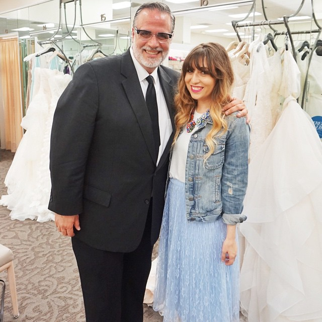 stephanie pernas of a sparkle factor and jose solis of david's bridal