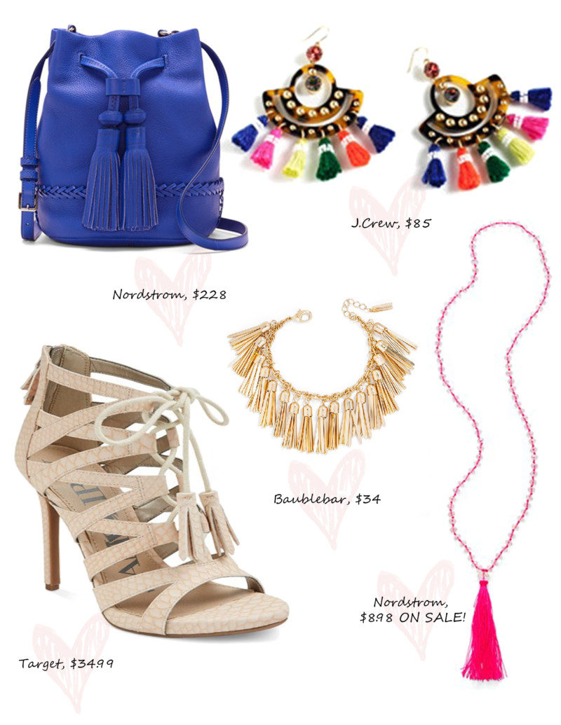 tassel jewelry and accessories for 2015.