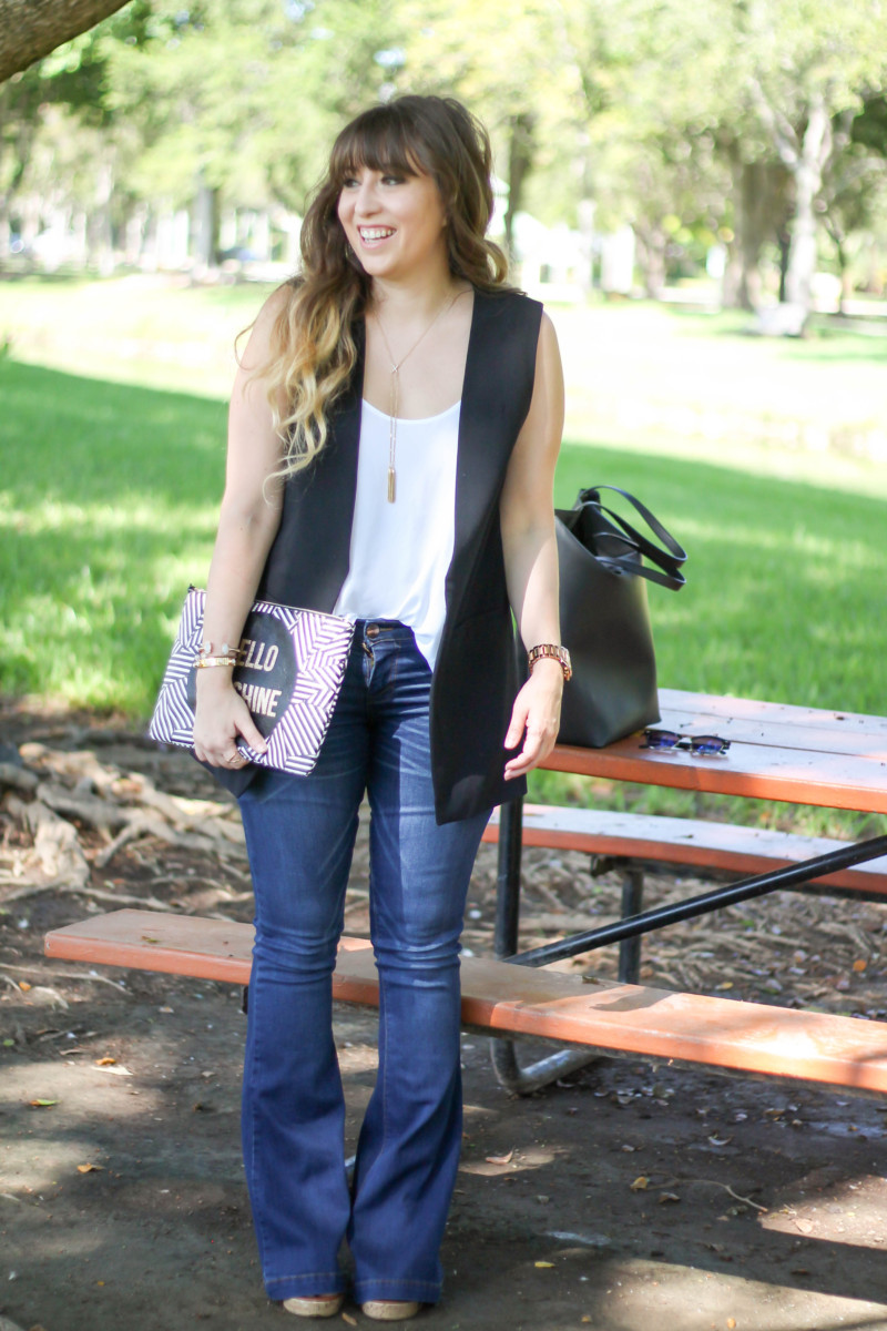 kohl's sleeveless blazer, flare jeans, camisole (13 of 13)