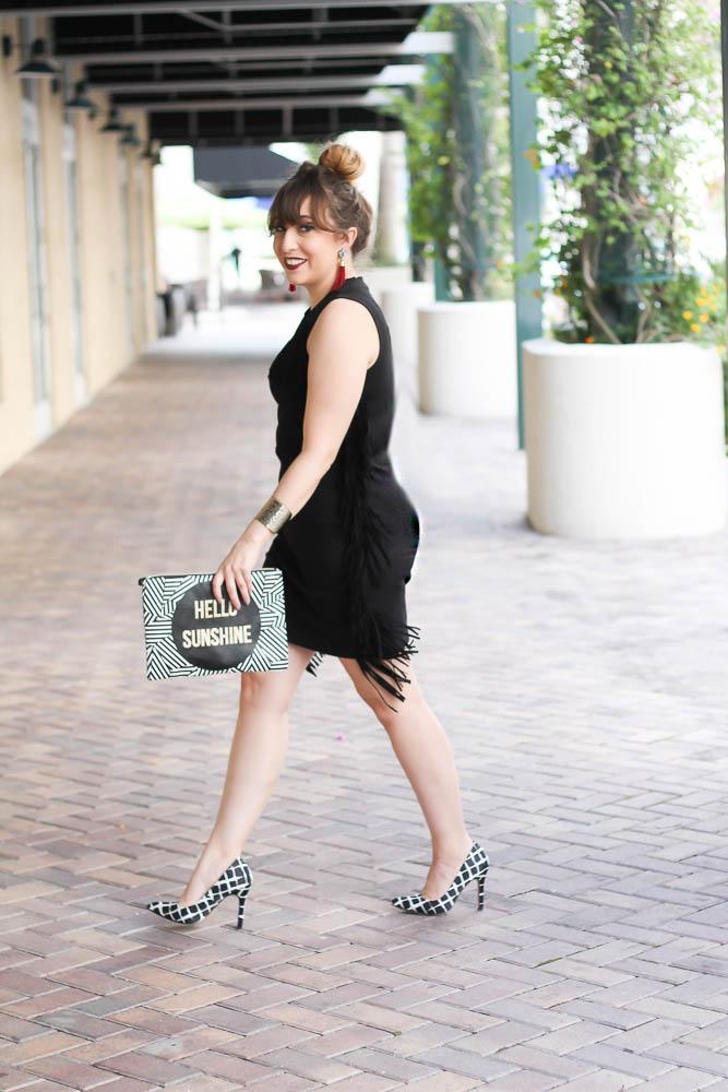 Little Black Fringe Dress (3 of 11)
