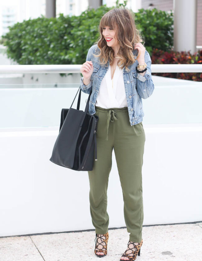 Old Navy Olive Joggers (9 of 11)