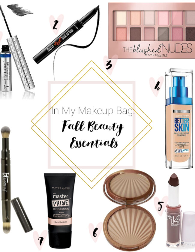 What's In My Makeup Bag Fall Beauty Essentials