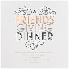 Cute evites for Friendsgiving dinner