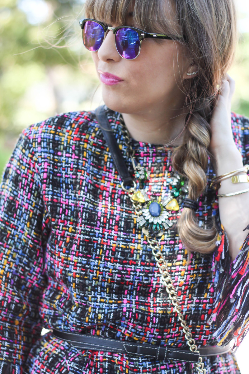 Shein Tweed Fringe Dress_-2