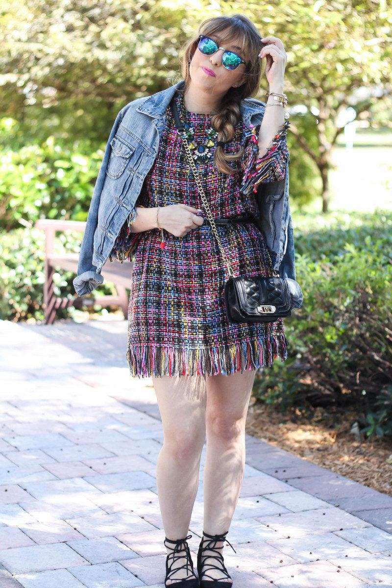 Shein Tweed Fringe Dress_-5