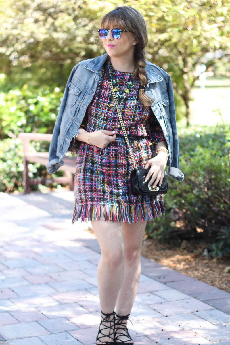 Shein Tweed Fringe Dress_-6