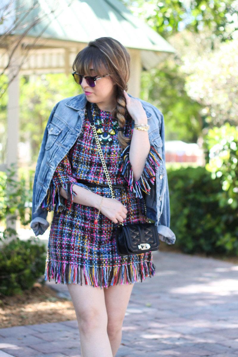 Shein Tweed Fringe Dress_-8