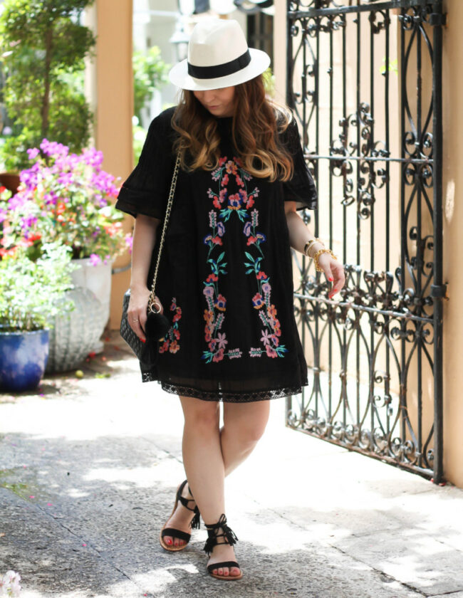 Free People Victorian embroidered dress