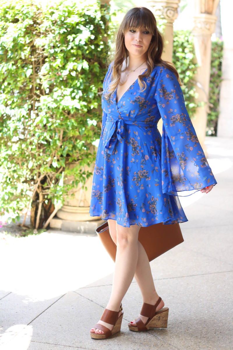 Free People blue floral dress-6