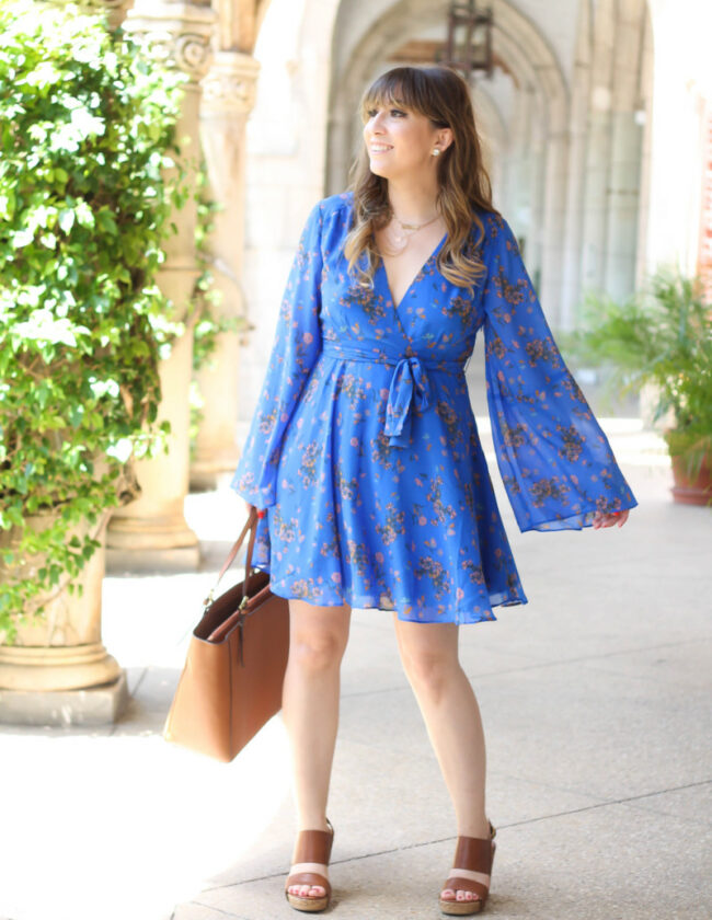 Free People blue floral dress-7