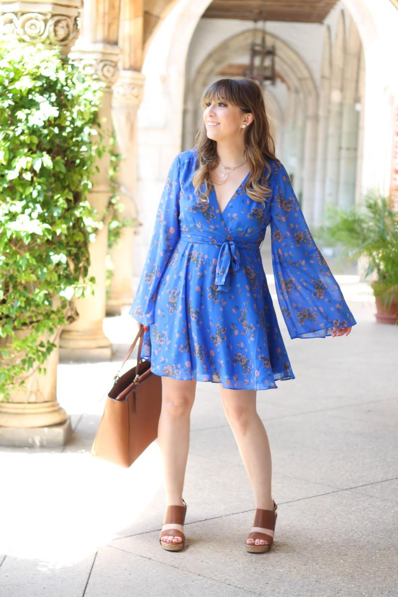 Free People blue floral dress-7