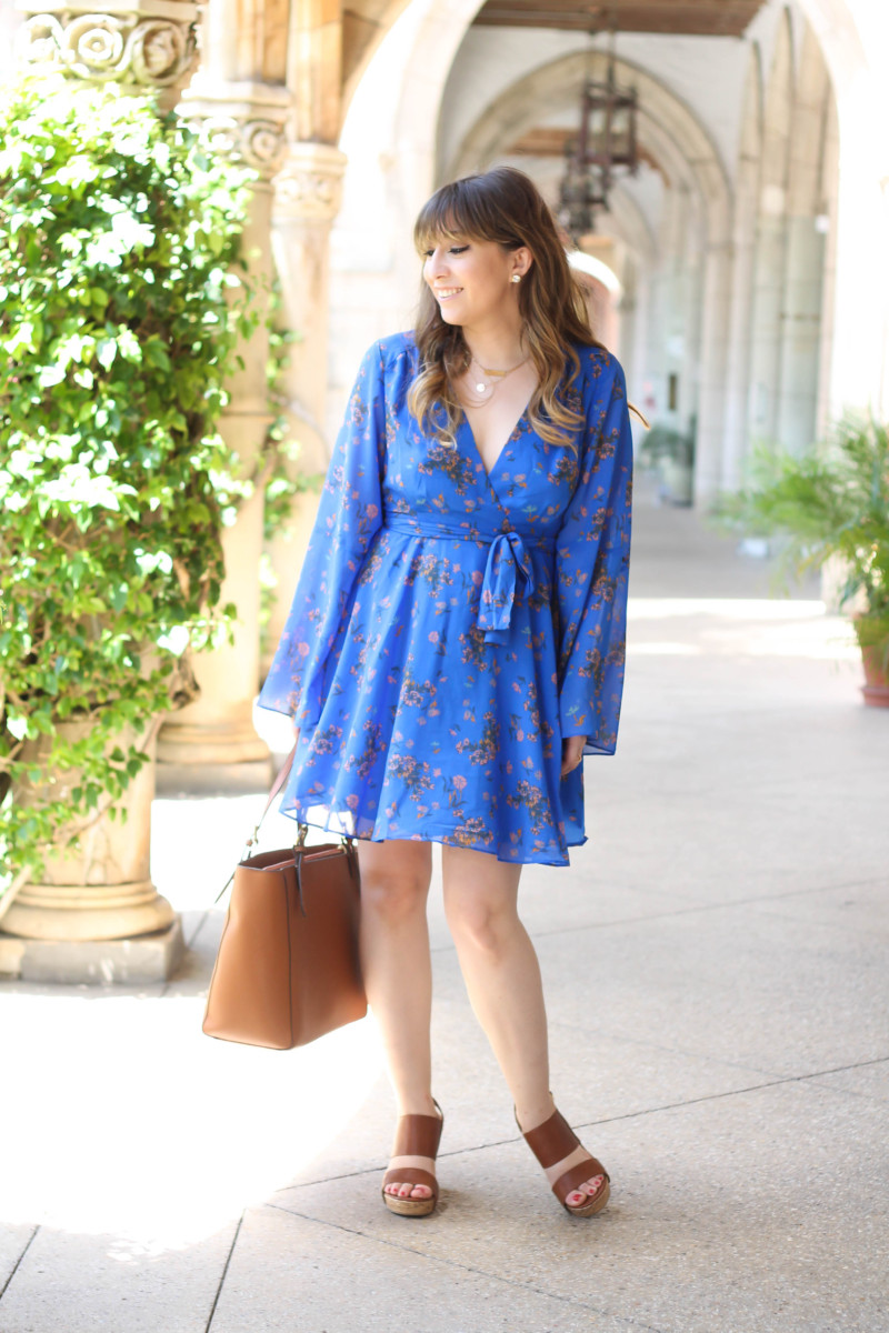 Free People blue floral dress-8