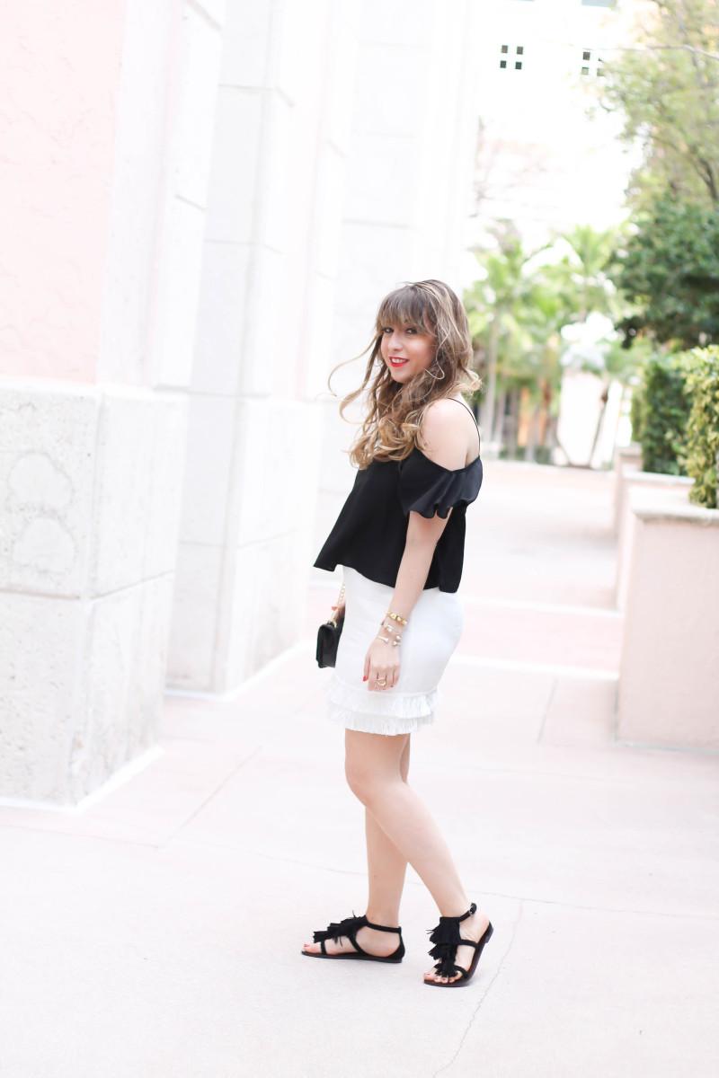 white fringe skirt