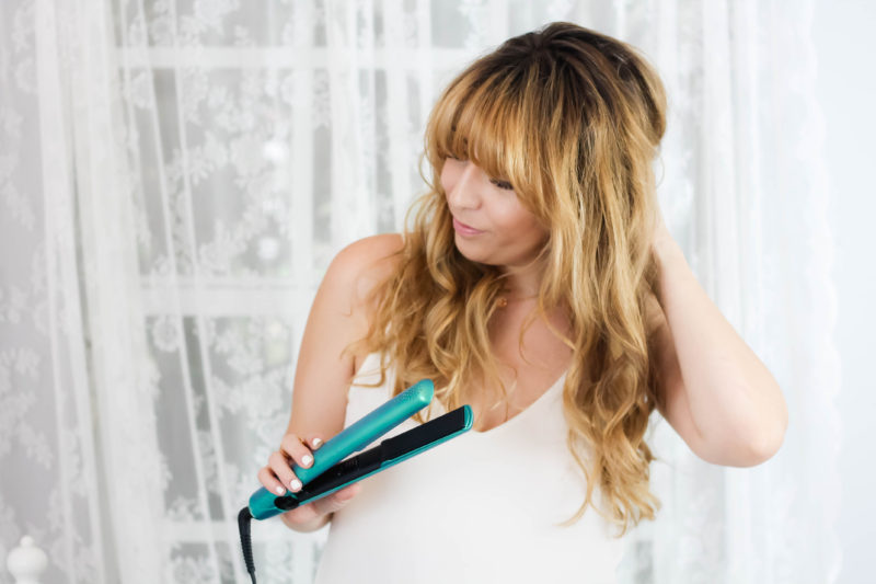 how to get flat iron waves
