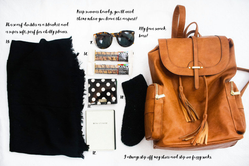 Travel Essentials - cozy items to pack in your carry on bag