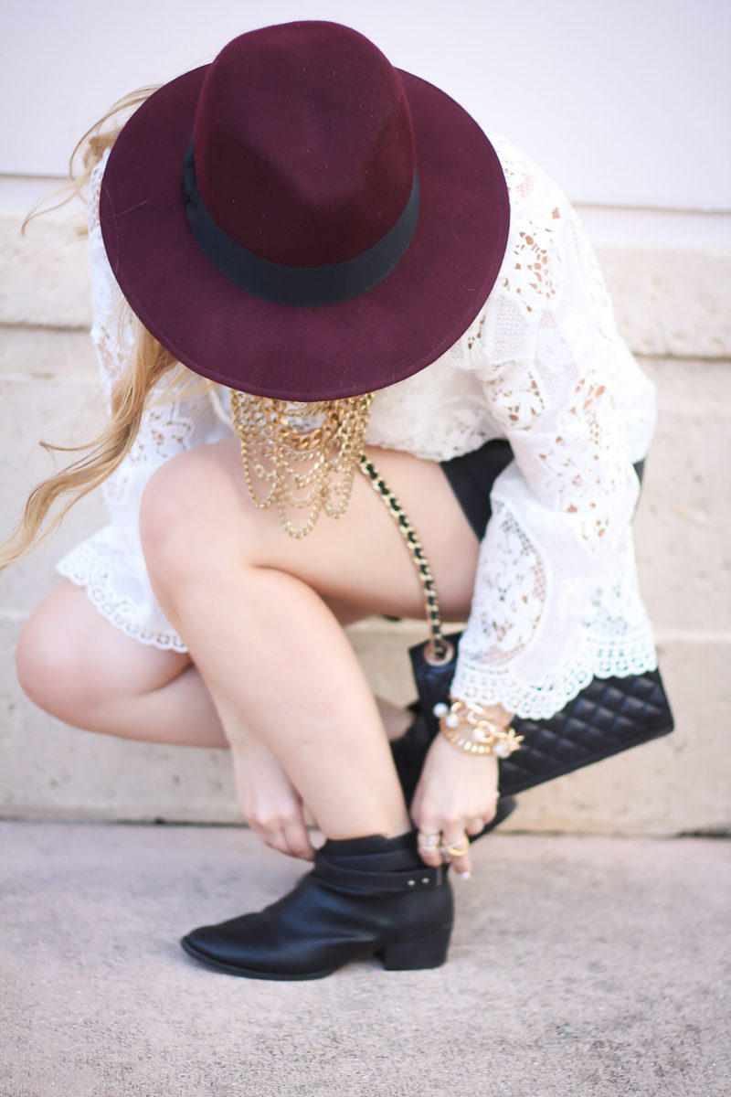 choie-white-lace-bell-sleeve-top-leather-shorts-target-maroon-felt-fedora-lc-lauren-conrad-booties-rebecca-minkoff-quilted-mini-affair-bag-10-of-16