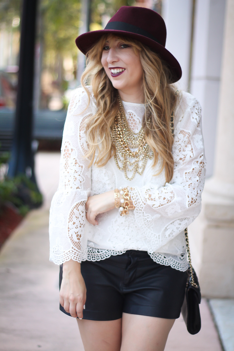 choie-white-lace-bell-sleeve-top-leather-shorts-target-maroon-felt-fedora-lc-lauren-conrad-booties-rebecca-minkoff-quilted-mini-affair-bag-14-of-16