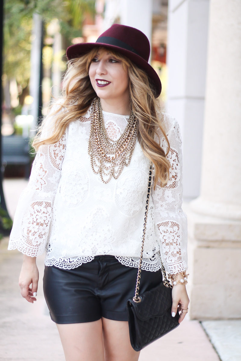 choie-white-lace-bell-sleeve-top-leather-shorts-target-maroon-felt-fedora-lc-lauren-conrad-booties-rebecca-minkoff-quilted-mini-affair-bag-15-of-16