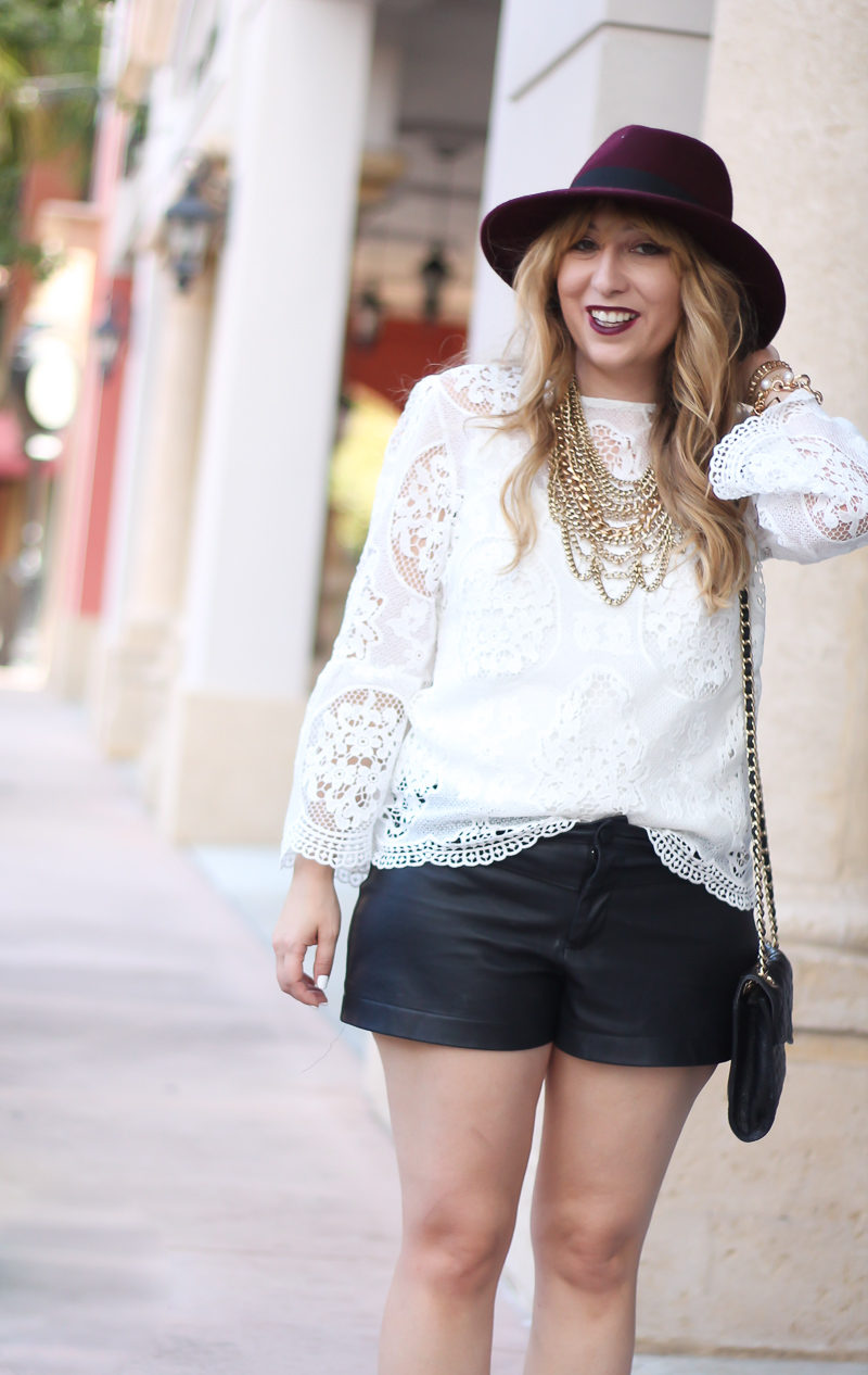 choie-white-lace-bell-sleeve-top-leather-shorts-target-maroon-felt-fedora-lc-lauren-conrad-booties-rebecca-minkoff-quilted-mini-affair-bag-6-of-16