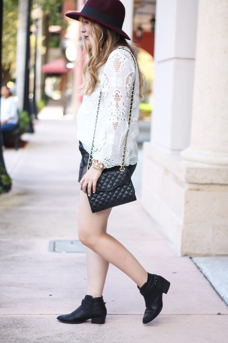 choie-white-lace-bell-sleeve-top-leather-shorts-target-maroon-felt-fedora-lc-lauren-conrad-booties-rebecca-minkoff-quilted-mini-affair-bag-7-of-16