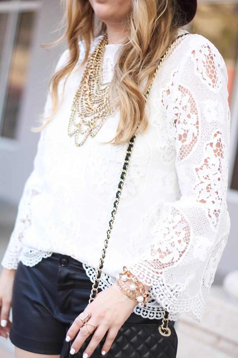 choie-white-lace-bell-sleeve-top-leather-shorts-target-maroon-felt-fedora-lc-lauren-conrad-booties-rebecca-minkoff-quilted-mini-affair-bag-8-of-16