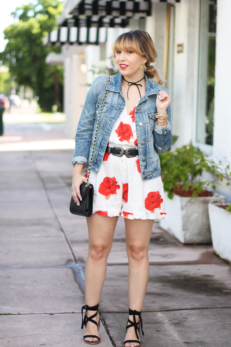 choies-white-rose-romper-j-crew-factory-jean-jacket-baublebar-whitely-choker-chinese-laundry-calvary-rebecca-minkoff-quilted-mini-affair-1-of-13