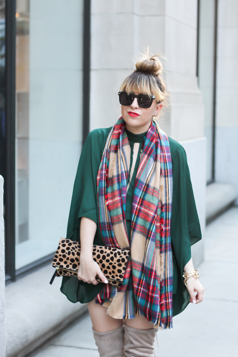 forever-21-green-romper-plaid-blanket-scarf-chinese-laundry-over-the-knee-boots-2-of-9