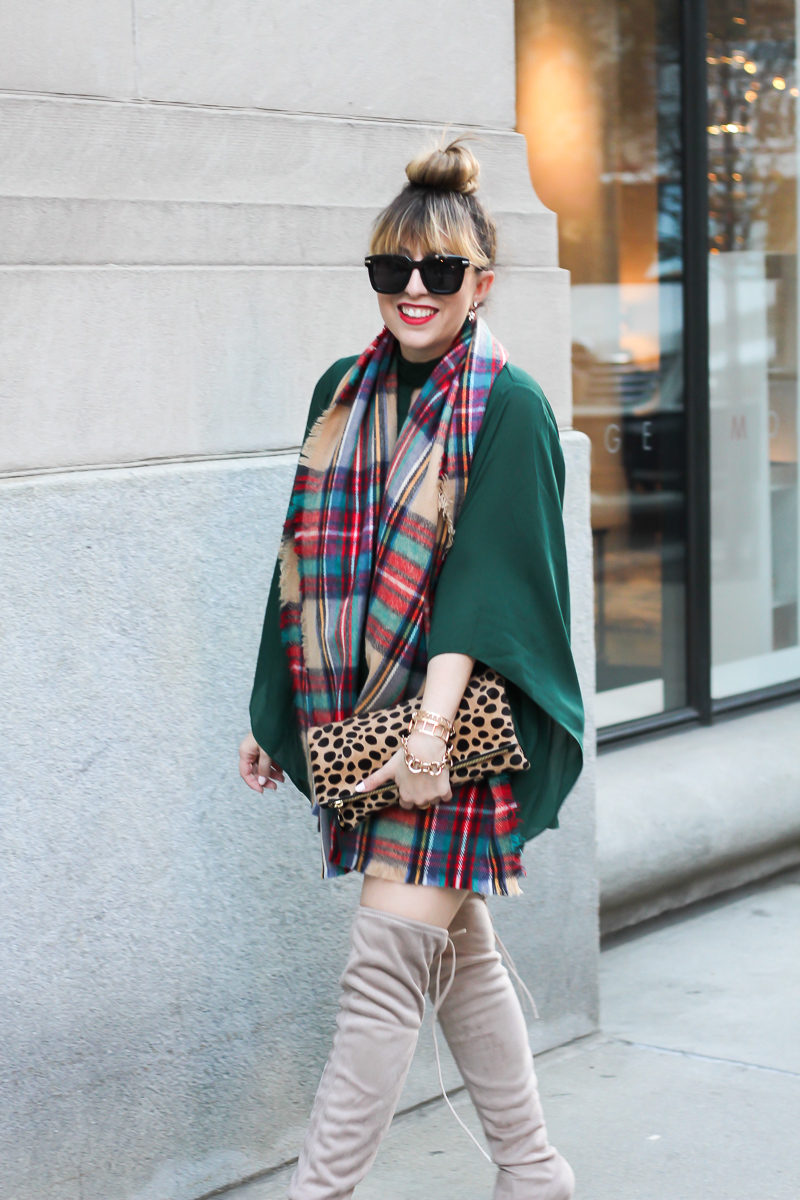 forever-21-green-romper-plaid-blanket-scarf-chinese-laundry-over-the-knee-boots-9-of-9