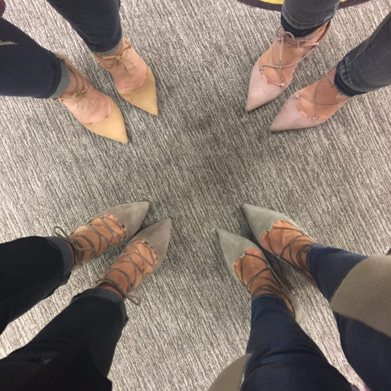 Blogger shoefie at Boston Courtyard Downtown