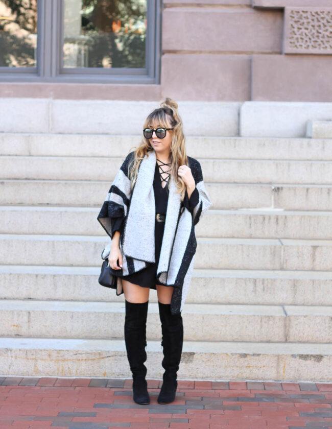 lush-black-dress-ily-couture-stripe-cape-1-of-16