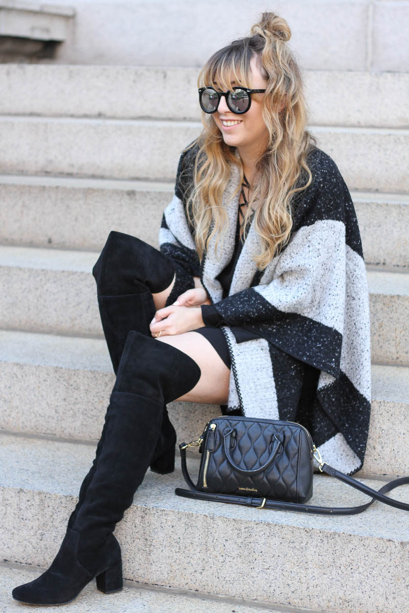 lush-black-dress-ily-couture-stripe-cape-15-of-16