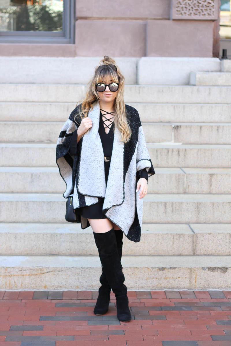 lush-black-dress-ily-couture-stripe-cape-2-of-16