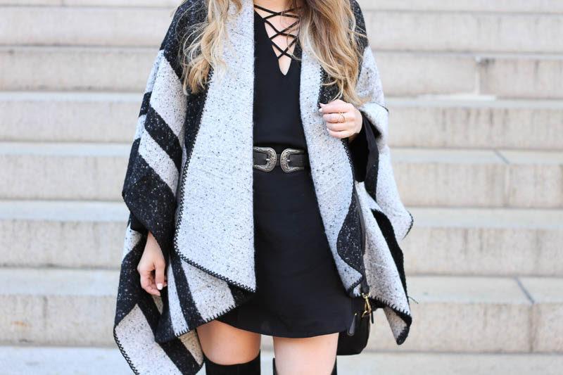 lush-black-dress-ily-couture-stripe-cape-2-of-4