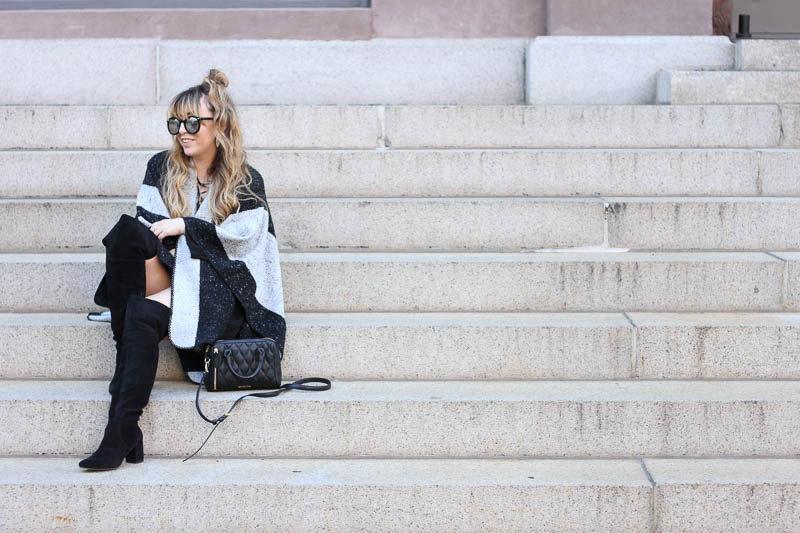 lush-black-dress-ily-couture-stripe-cape-3-of-4