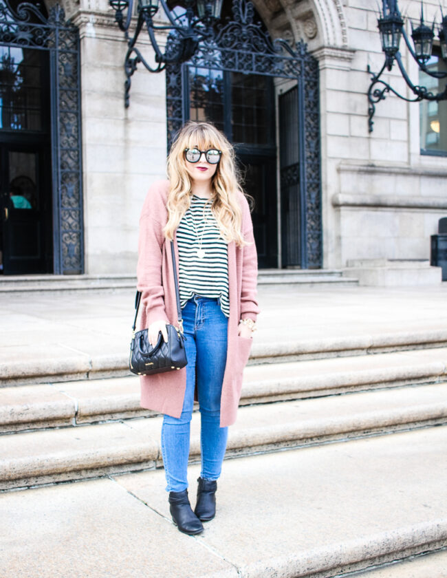 pink-forever-21-cardigan-whowhatwear-stripe-tee-and-old-navy-jeans-4-of-8