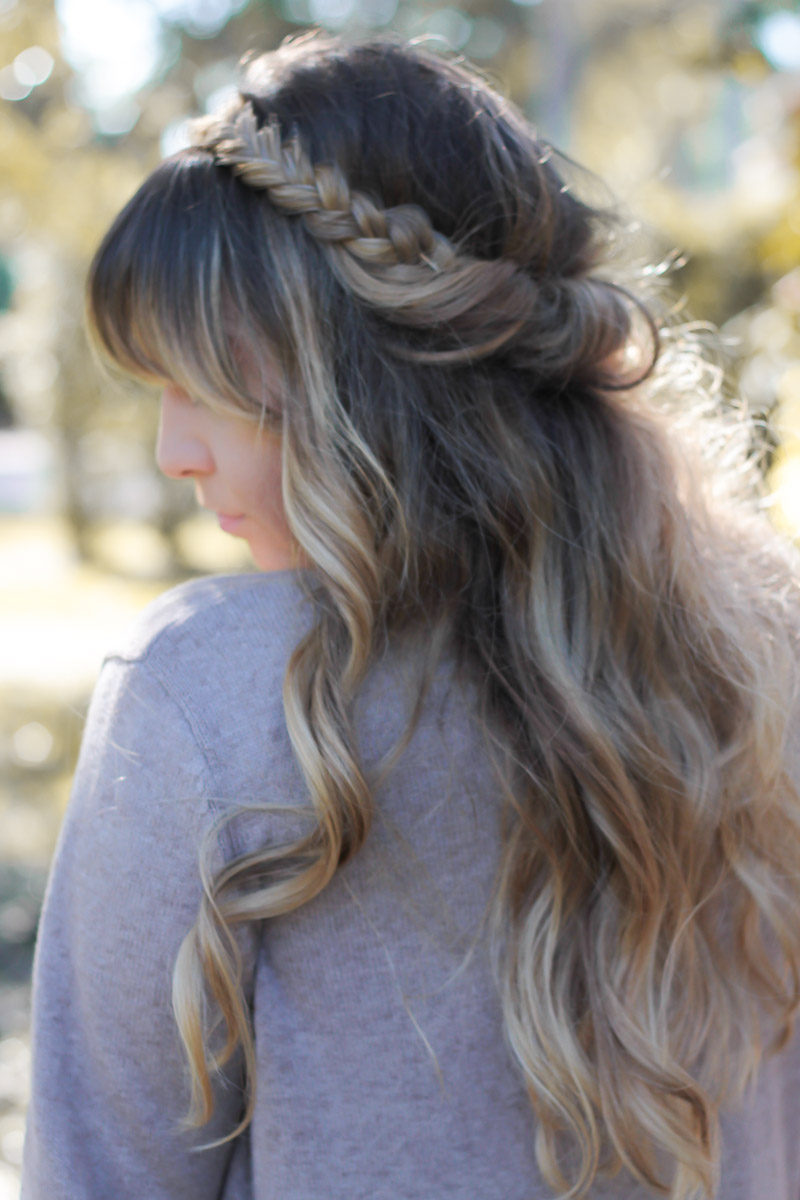 Miami fashion blogger Stephanie Pernas wearing a cute braided hair style