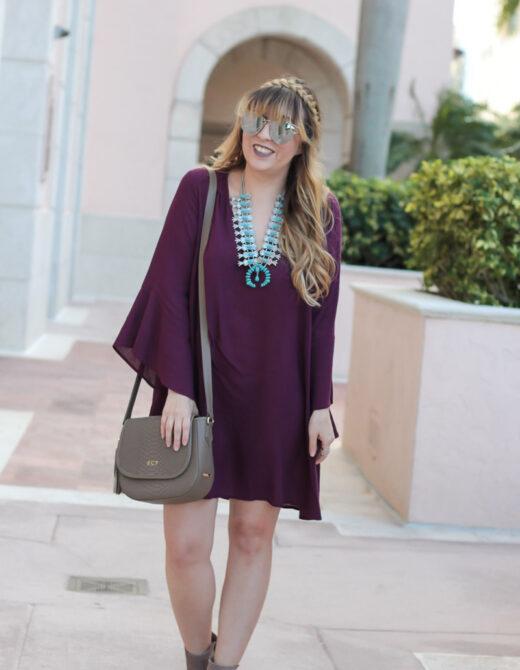 Lush Whitney dress with Baublebar Capri Amulet necklace