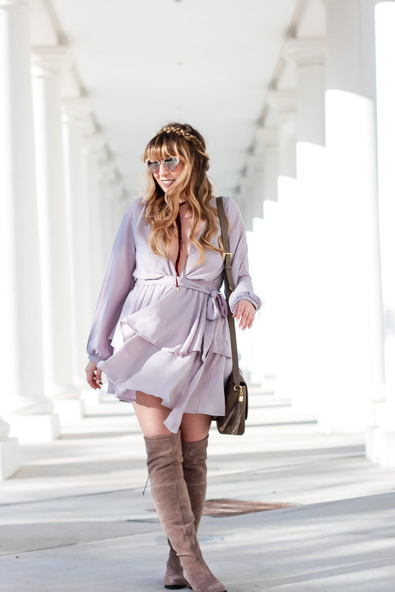 Miami fashion blogger Stephanie Pernas wearing the Lioness Amalfi tiered dress