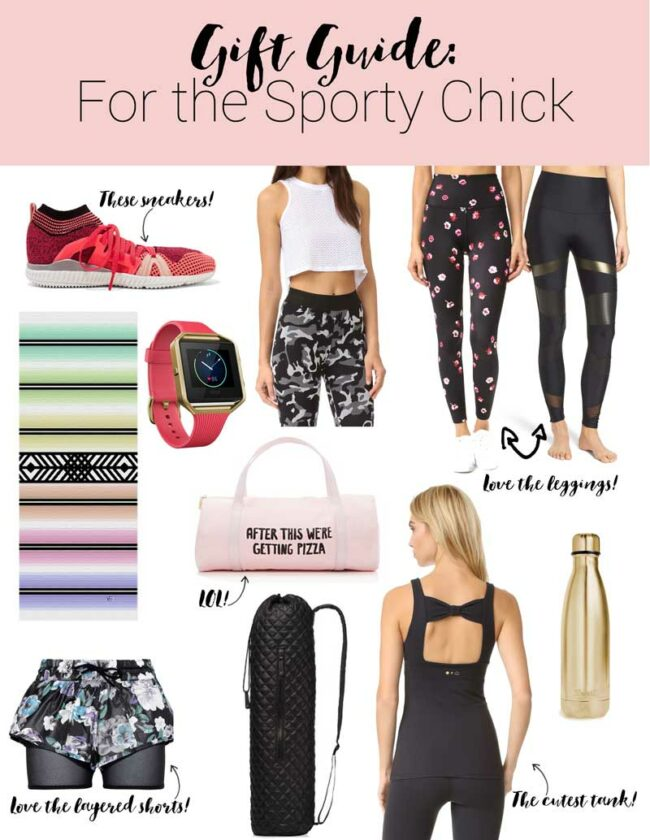 Gift guide: gifts for the sporty girl