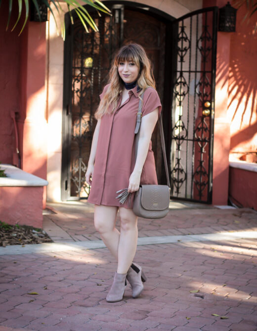 Forever 21 shirtdress and Sole Society booties