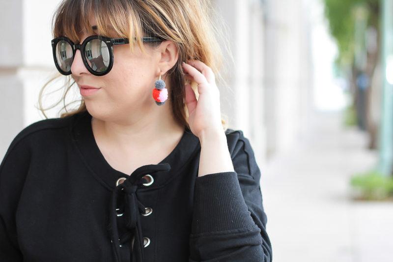 Miami fashion blogger Stephanie Pernas of A Sparkle Factor wearing Baublebar Maui earrings