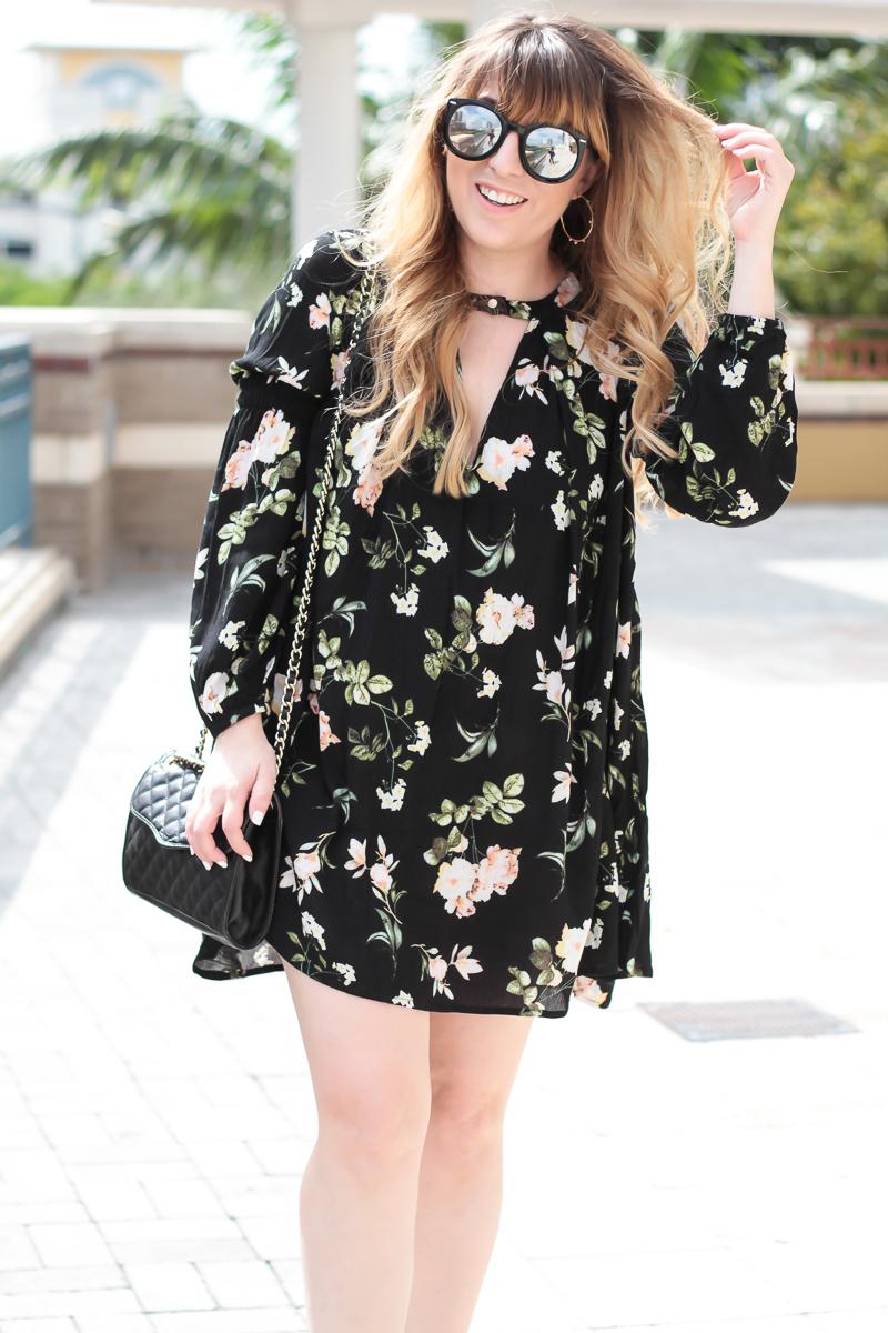 Long sleeve dress for spring