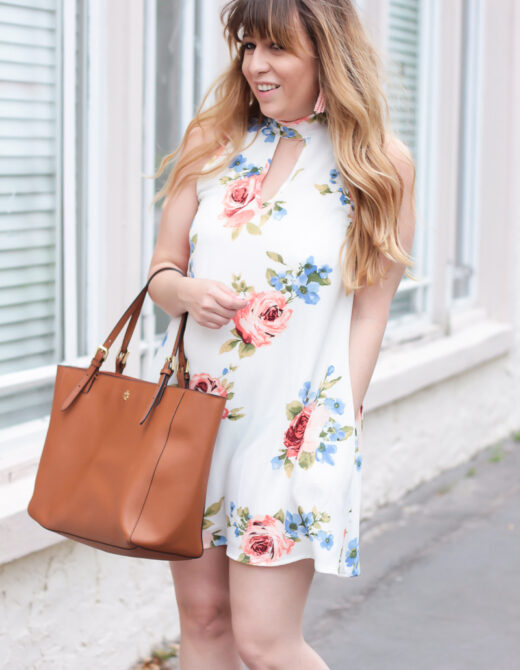 Mint Julep Boutique white floral dress