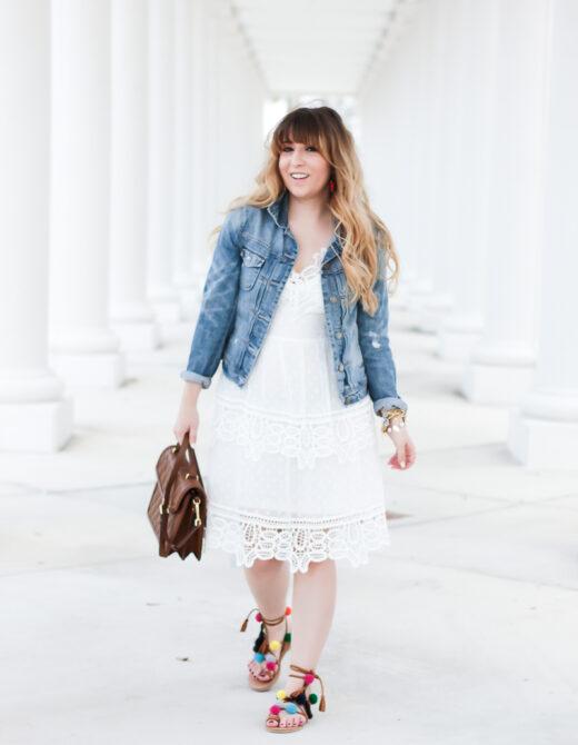 White lace dress – Self Portrait dress look for less-5
