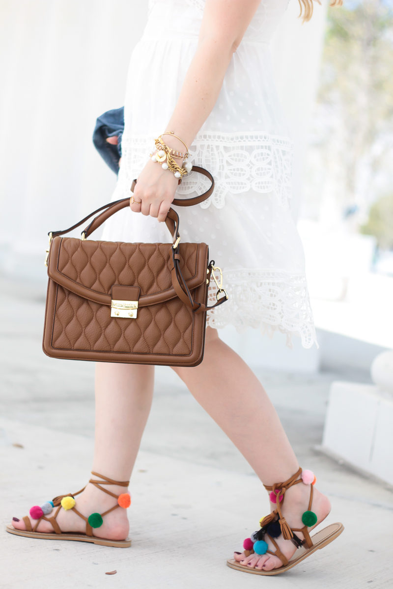 Miami fashion blogger Stephanie Pernas styles the Vera Bradley Lydia satchel