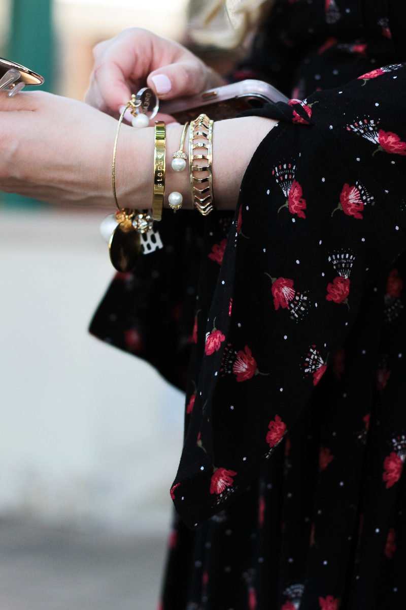 Miami fashion blogger Stephanie Pernas styling taudrey, Moon & Lola and Baublebar bracelets