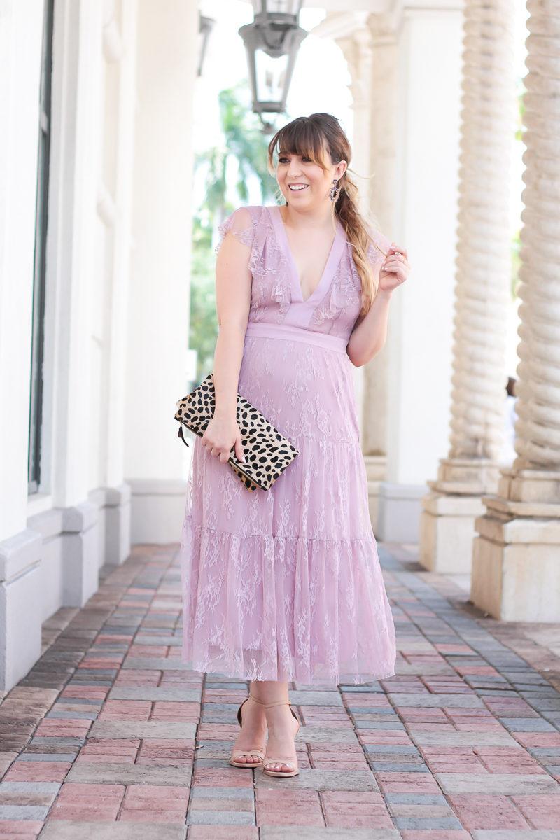 Miami fashion blogger Stephanie Pernas styles a Wayf dress for spring