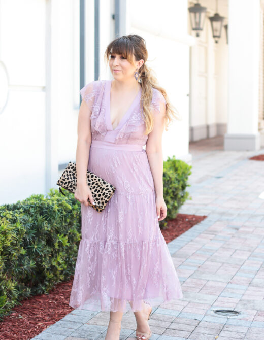 Lavender lace dress for Easter-8