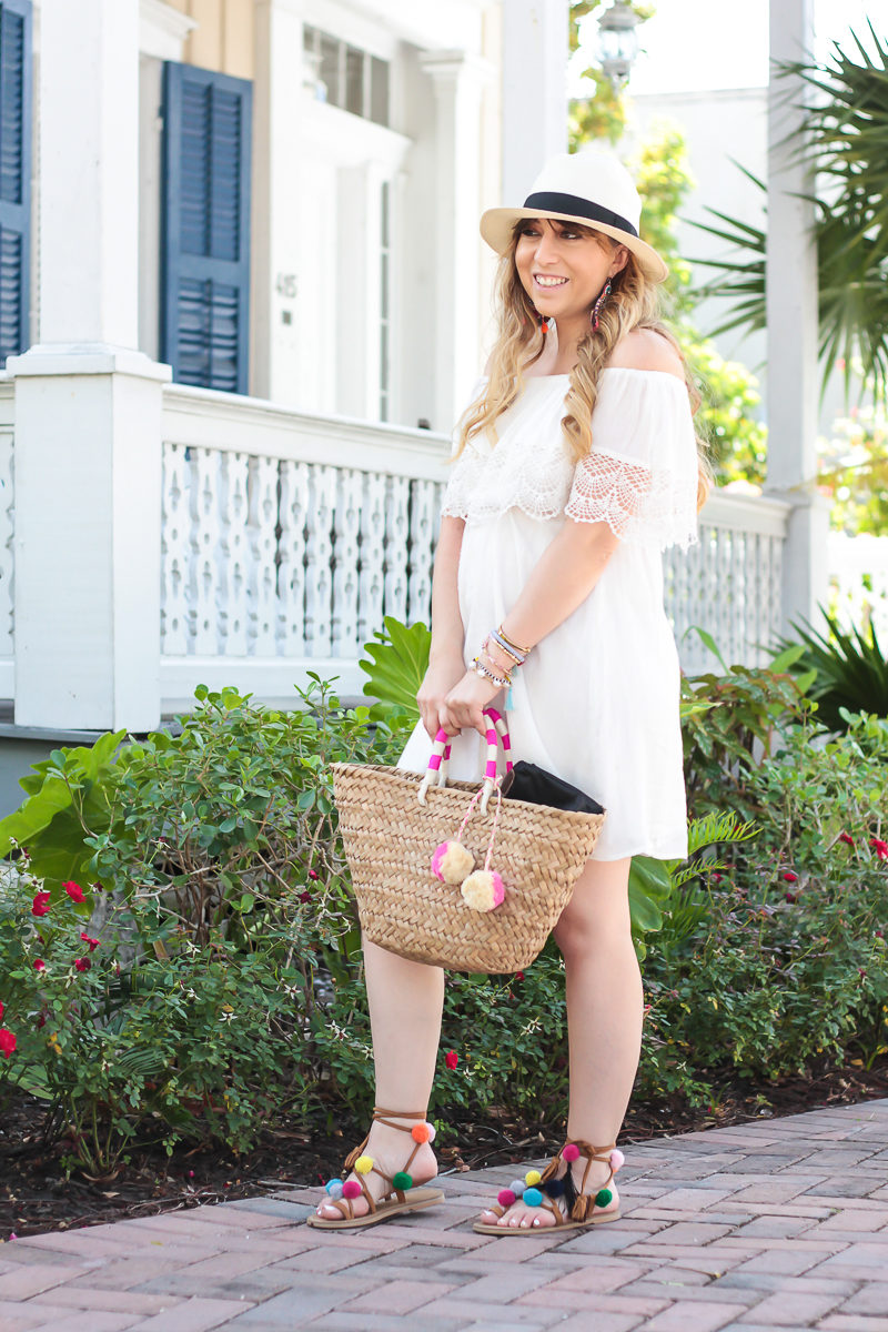 Miami fashion blogger Stephanie Pernas wearing a Lush white dress