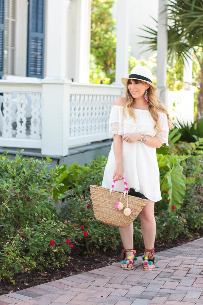 Lush White off the shoulder dress